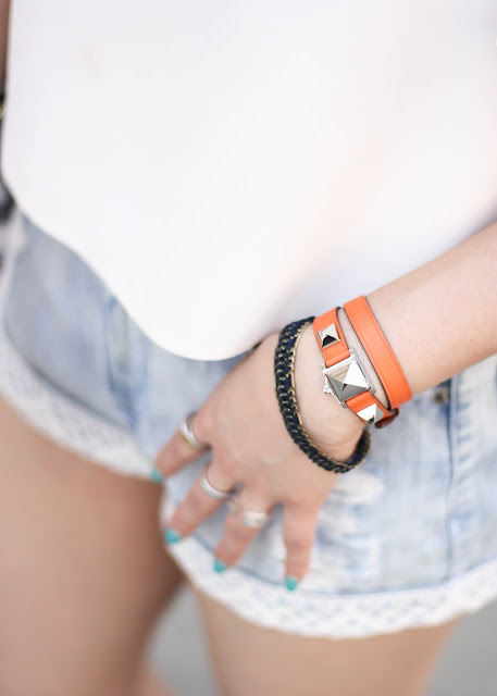 Hermes Medor Bracelet and Denim Shorts