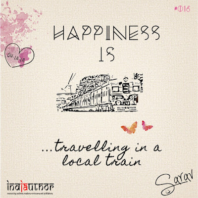 Happiness is travelling in a local train