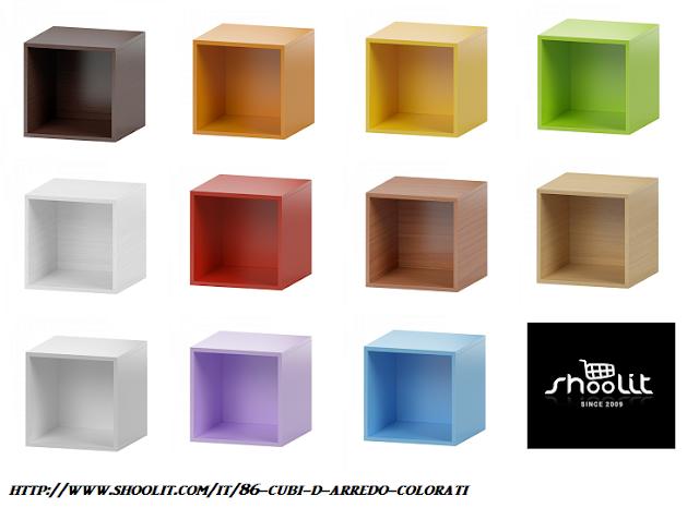 Cubi Componibili Colorati.Cubi Componibili Per Arredamento Terminali Antivento Per