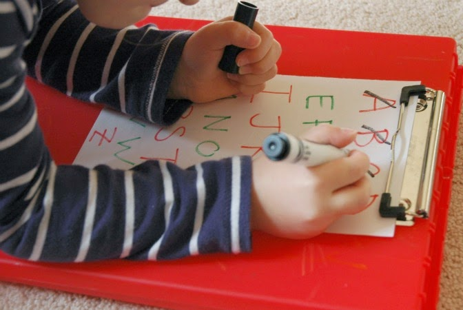 Fill the Alphabet Stocking: A Christmas Preschool Literacy Game