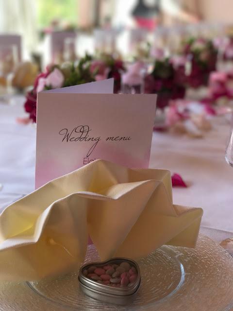 Menu and wedding favors, Shades of pink, weddings abroard, mountain wedding at the lake, wedding, Bavaria, Germany, Garmisch, Riessersee Hotel, getting married in Bavaria, wedding planner Uschi Glas