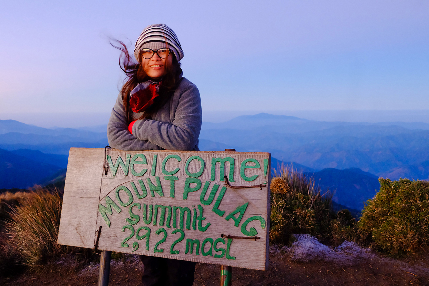 Mt. Pulag summit sign