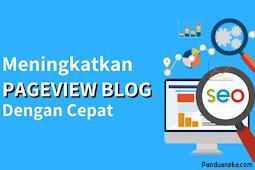 Cara Meningkatkan Pageview Blog Dengan Cepat