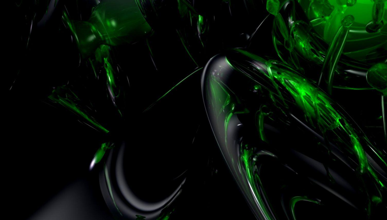 Wallpaper Black Green