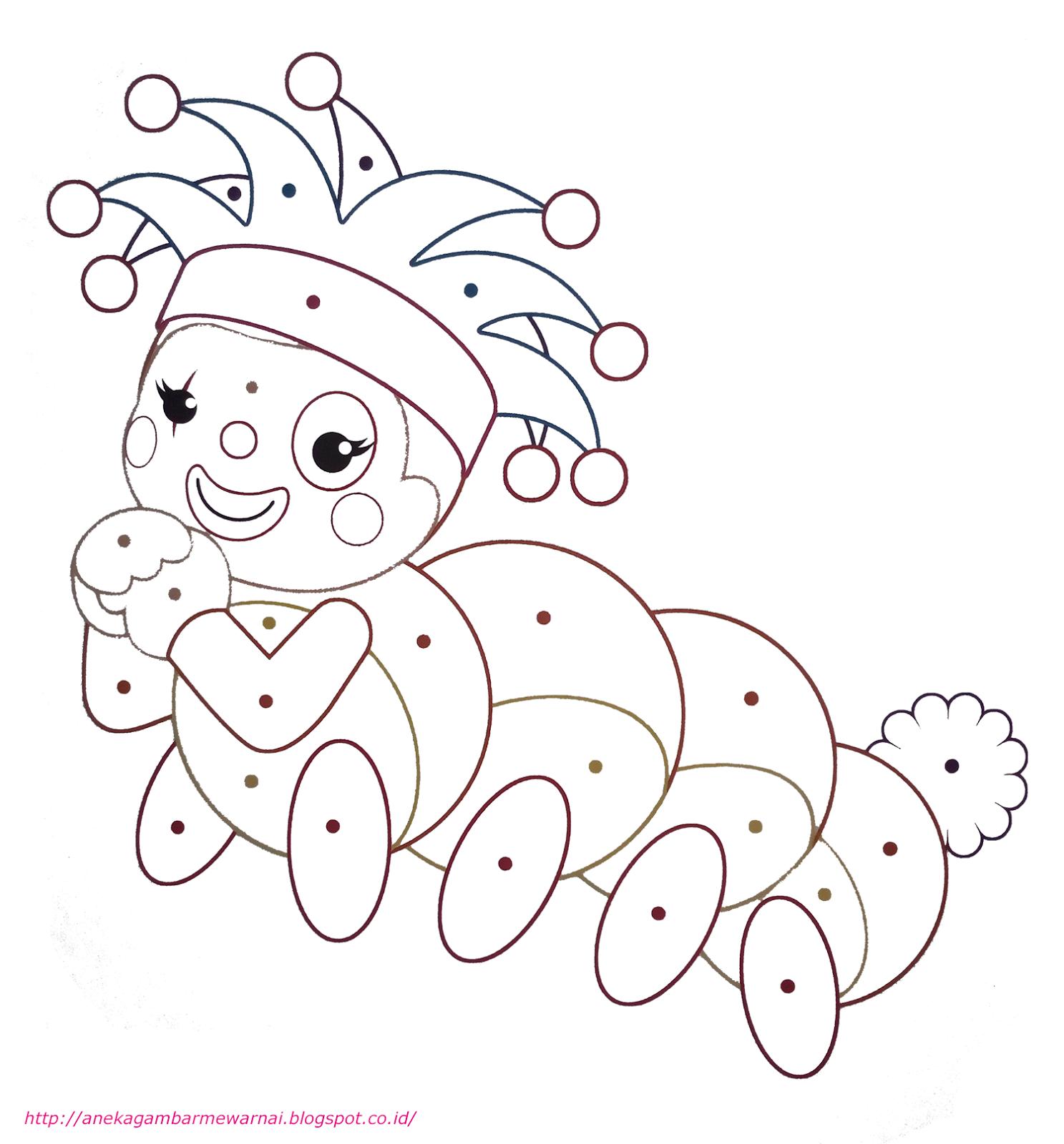 Gambar Mewarnai Loli Ulat Kecil Untuk Anak Paud Dan Tk