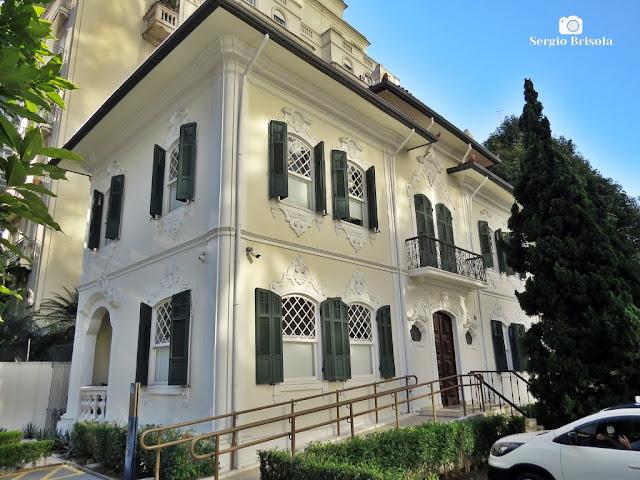 Vista da Antiga Residência da Família de Adolpho Schmidt Sarmento - Higienópolis - São Paulo