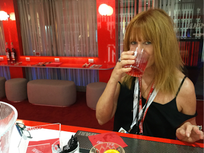 Cat Bauer in the Campari Lounge at the Venice Film Festival 2018