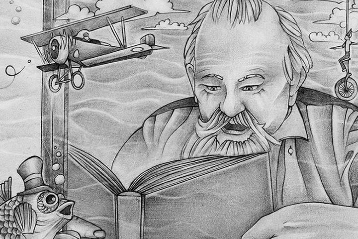 Ilustración, The Underwater Library de Alexandra Zambrano