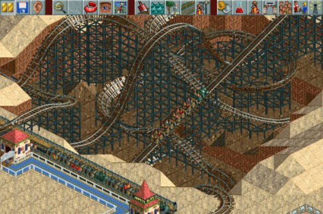 RollerCoaster Tycoon 1 PC Games Gameplay