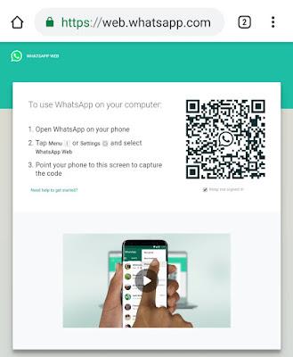 Use WhatsApp Web on phone