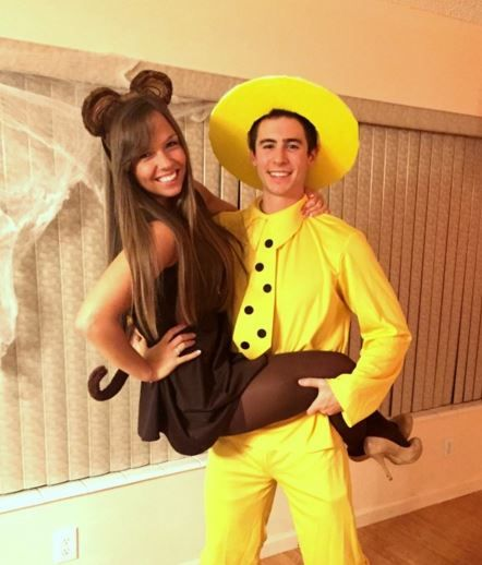 Couples Halloween Costume Curious George and Yellow Hat Man