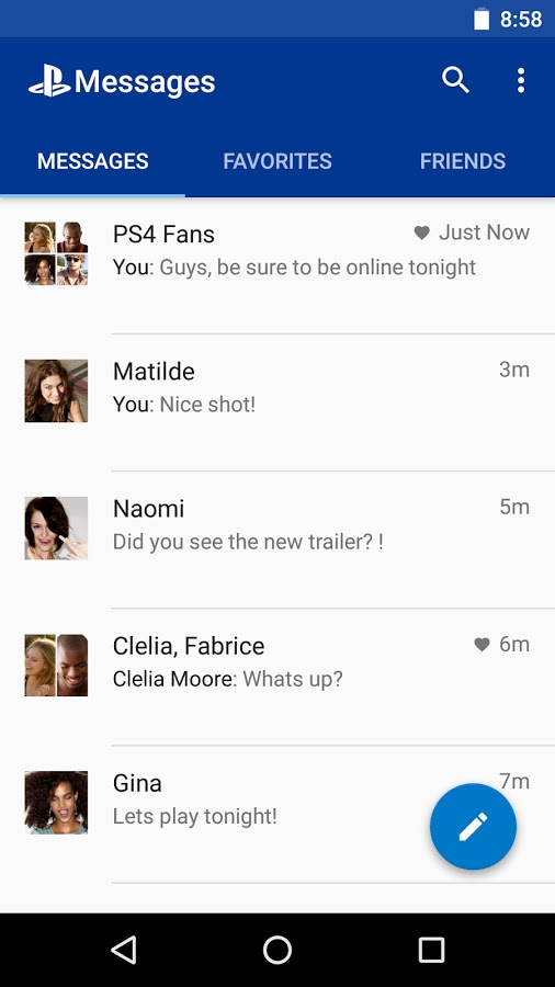 Sony released PlayStation® Messages app! ~ Android Coliseum