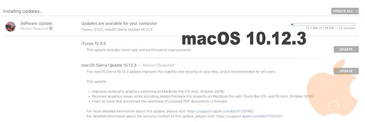 Apple Rilis Update macOS Sierra 10.12.3 bagi Pengguna Mac untuk Perbaikan Bug Grafis [dan juga Peningkatan Kestabilan dan Keamanan]