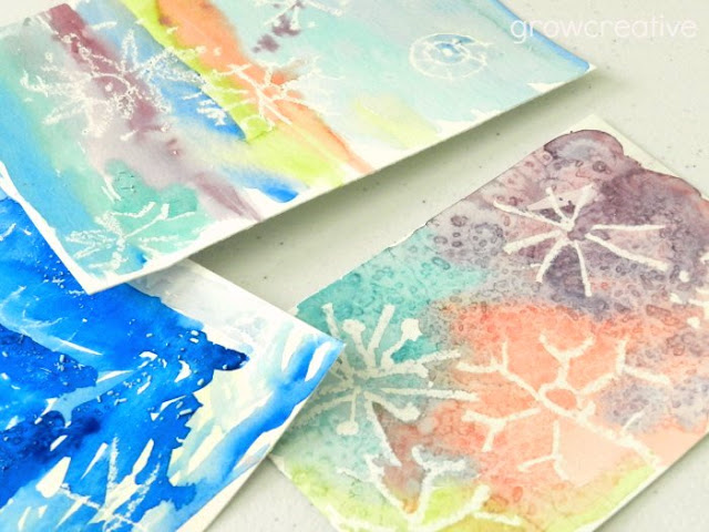 Watercolor Snowflake Art: growcreative