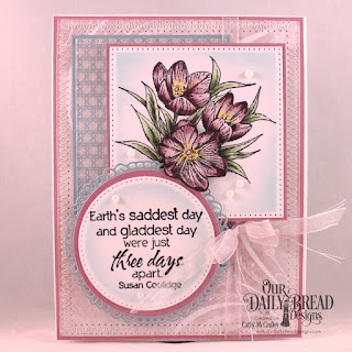 Our Daily Bread Designs Stamp Set: Earth's Gladdest Day,Paper Collection: Shabby Rose, Shabby Pastels, Custom Dies: Pierced Rectangles, Pierced Circles, Fancy Circles, Circles