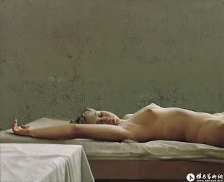 Desnudos Orientales Femeninos en Lienzo
