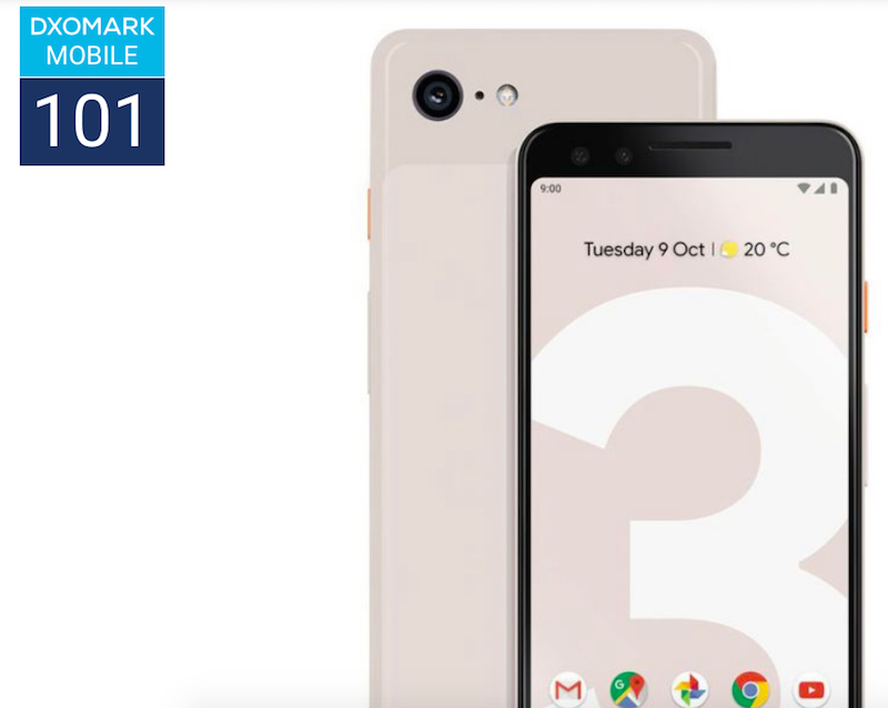Breaking: Google Pixel 3 scored 101 points at DxOMark!