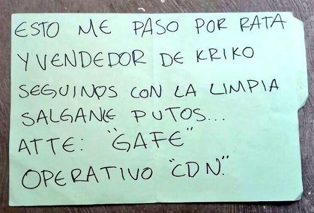 """Salgan put..os el GAFE del CDN deja mensaje y muertos a su paso """"seguimos con la limpia"""""""