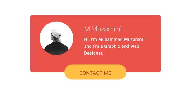 Stylish About Me Blogger Widget