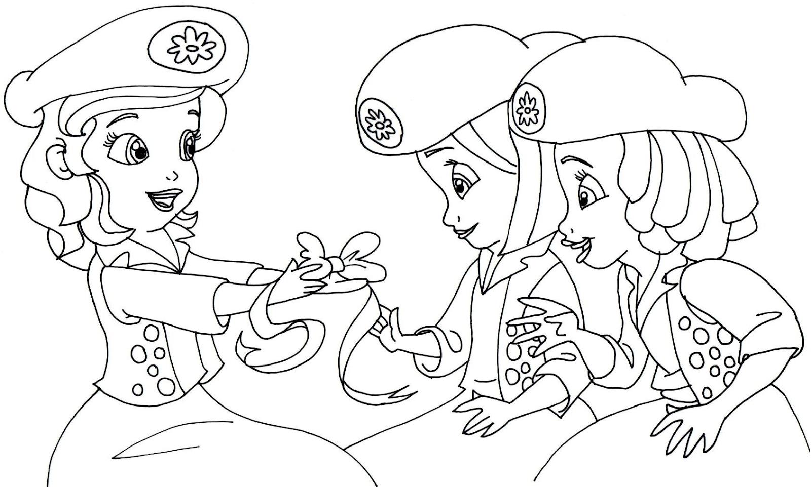 Desenhos da princesa sofia para colorir toda atual for Sophie the first coloring pages