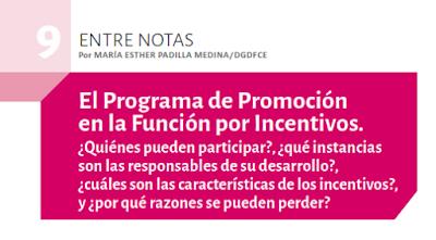 Programa de Promoción en la Función por Incentivos