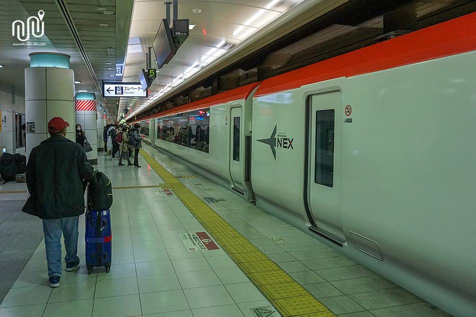 วิธีเดินทางจากโตเกียวไปสนามบินนาริตะด้วย N'EX