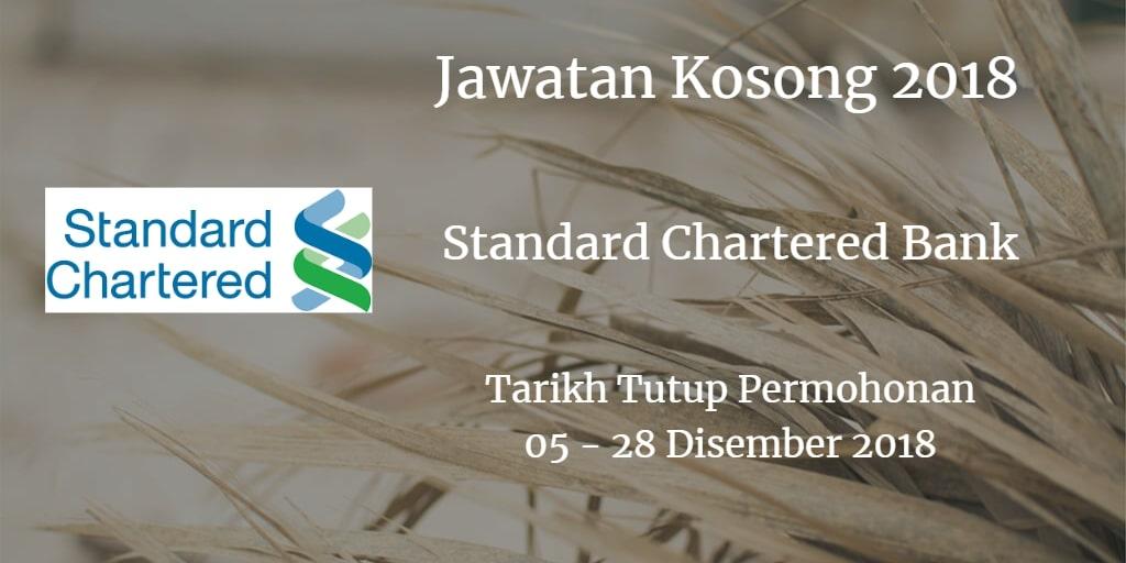 Jawatan Kosong Standard Chartered Bank 05 - 28 Disember 2018