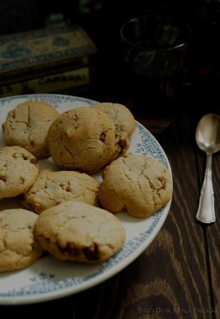cookies , goûter , sans blé , farine châtaigne , huile de coco