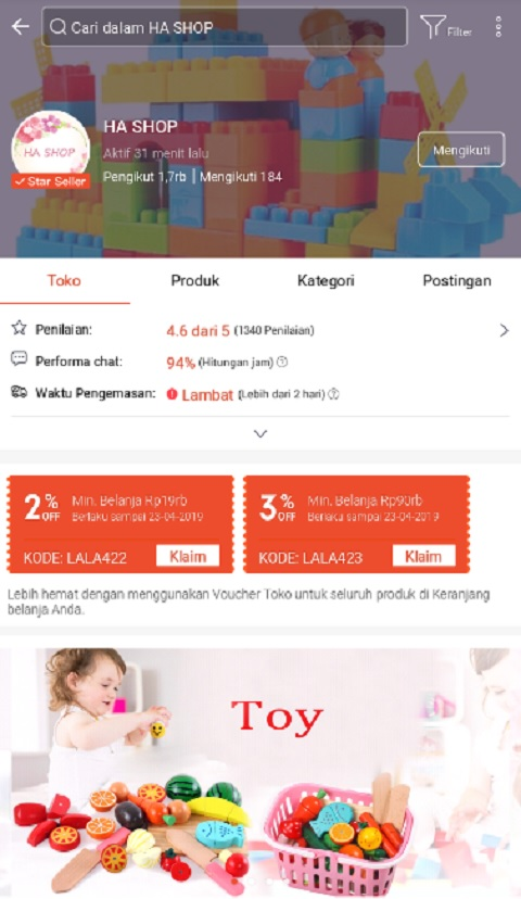 Ha Shop Menjadi Toko Peralatan Bayi Terlaris di Shopee