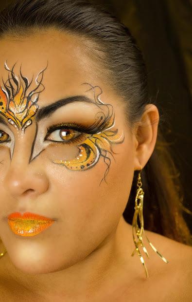 Blazing Eyes Hot Fire Face Paint Makeup