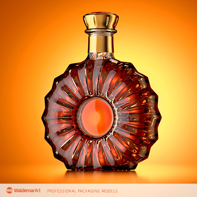 Reny – 3D model of the bottle for cognac or brandy