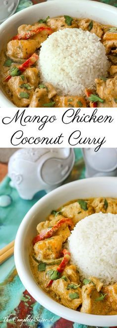 Mango Chicken Coconut Curry Recipe