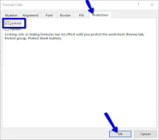 Cara Memprotek Cells dengan Password pada Microsoft Excel