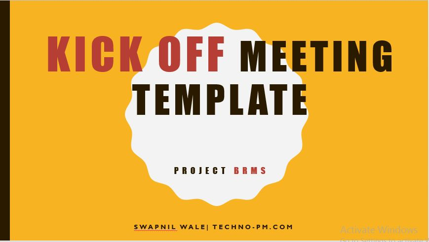 Project Kickoff Meeting Template Free Download