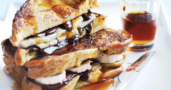 recette de pain perdu au chocolat et à la banane