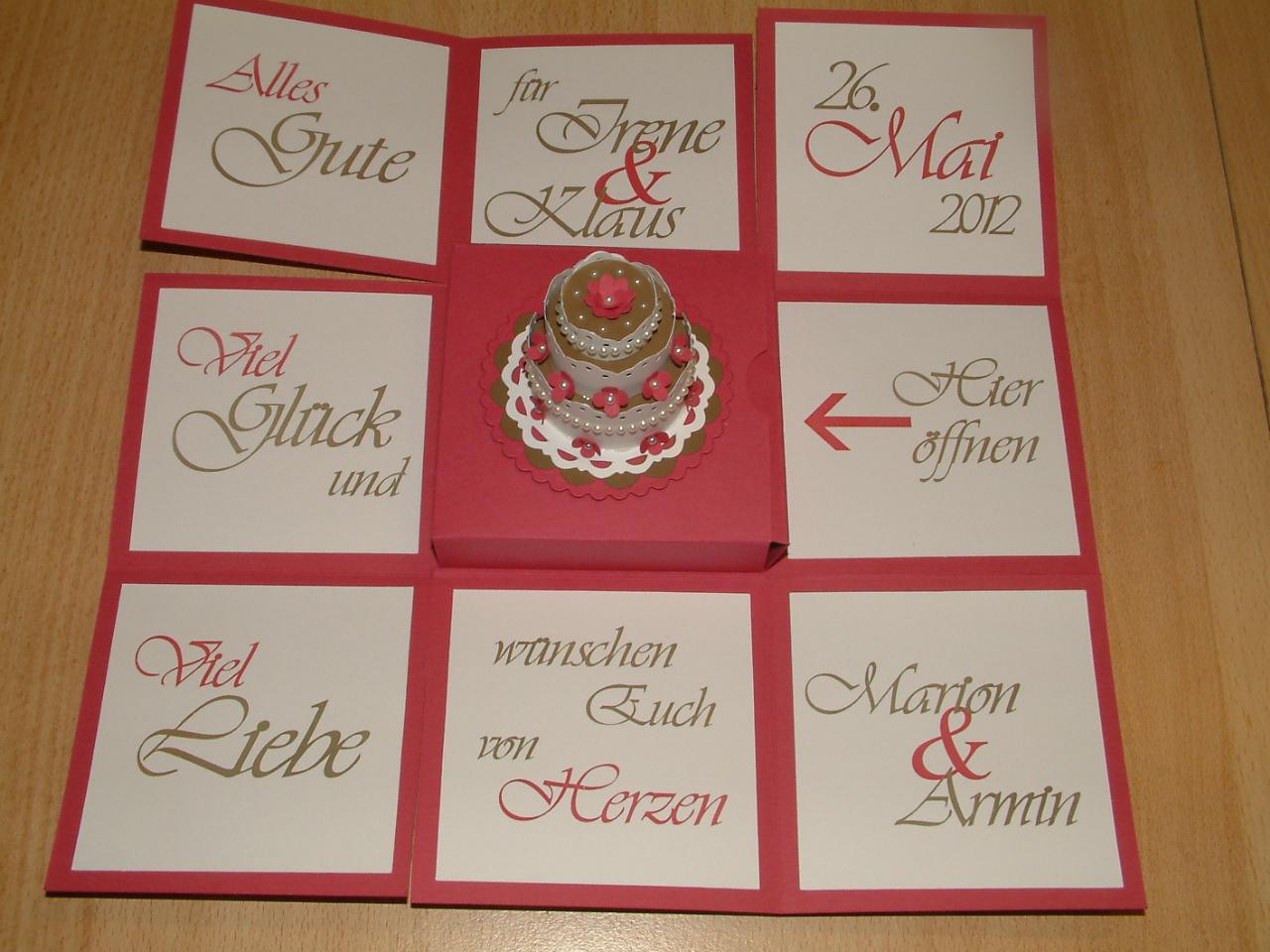 Marions Bastelstübchen Explosionsbox Zur Hochzeit
