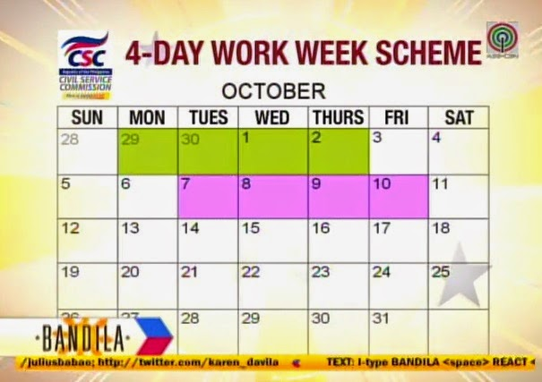 4-day work week-scheme schedule
