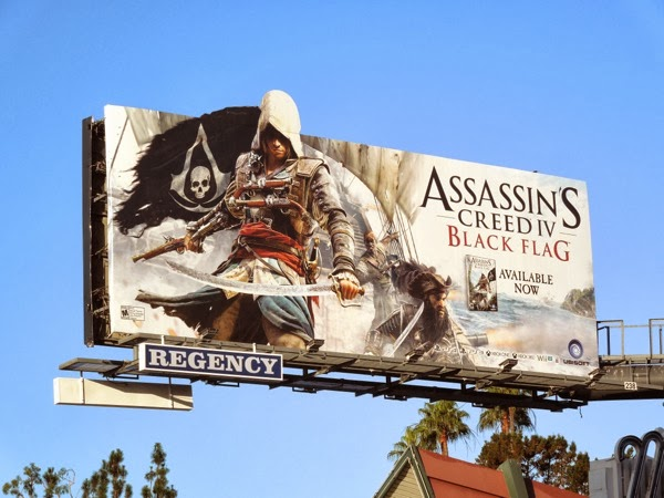 Assassins Creed IV Black Flag video game billboard