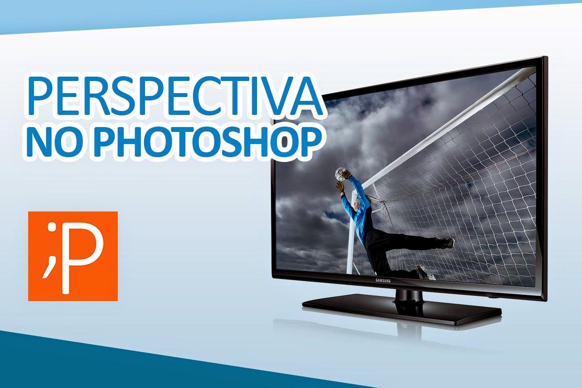 Perspectiva no Photoshop - Imagem dentro da TV