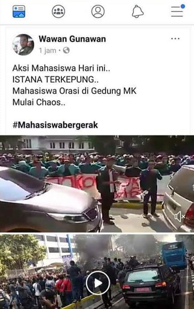 """Penyebar Video Hoax """"Demo Ricuh di MK"""" Ditangkap Polisi"""
