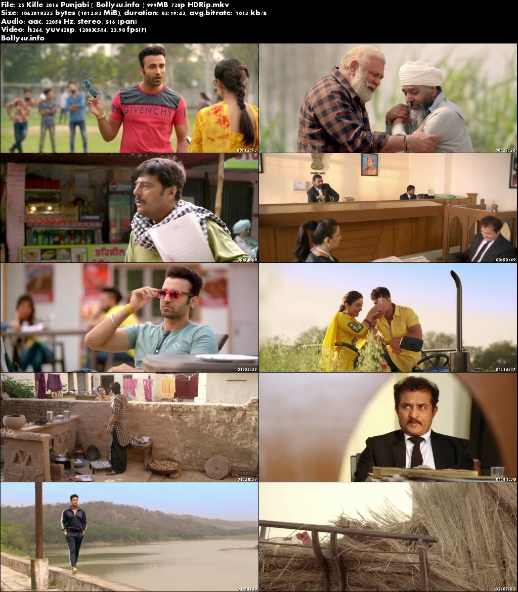 Screen Shoots of Watch Online 25 Kille 2016 HDRip 999MB Punjabi Movie 720p Free Download Bolly4u.info