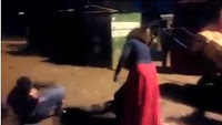 Ghasia tata-taka, Kikuyu WOMAN beats her husband like a burukenge in public, Must be from Nyeri (VIDEO).