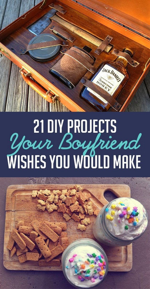 Craft Project Ideas: 21 DIY Projects Your Boyfriend Wishes ...