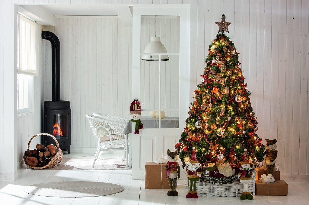 Rvores de natal decoradas decora o e ideias - Como decorar mi porche en navidad ...