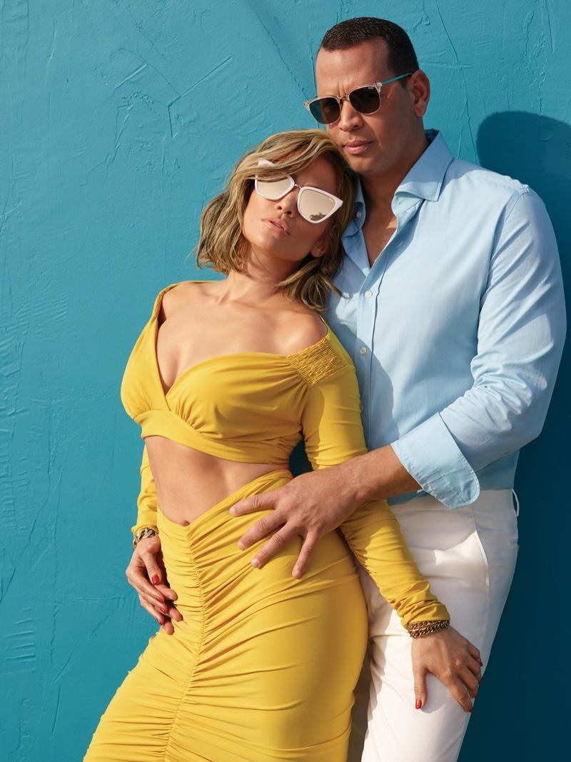 Jennifer Lopez and Alex Rodriguez pose for Quay Australia sunglasses campaign