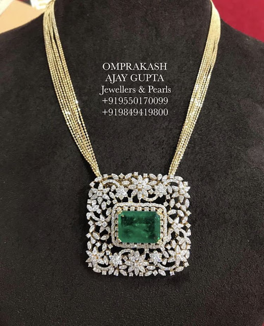 Trendy Diamond Pendant by Omprakash Jewellers