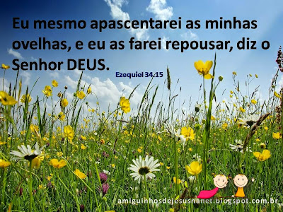 Versículo Bíblico para meditação Ezequiel 34