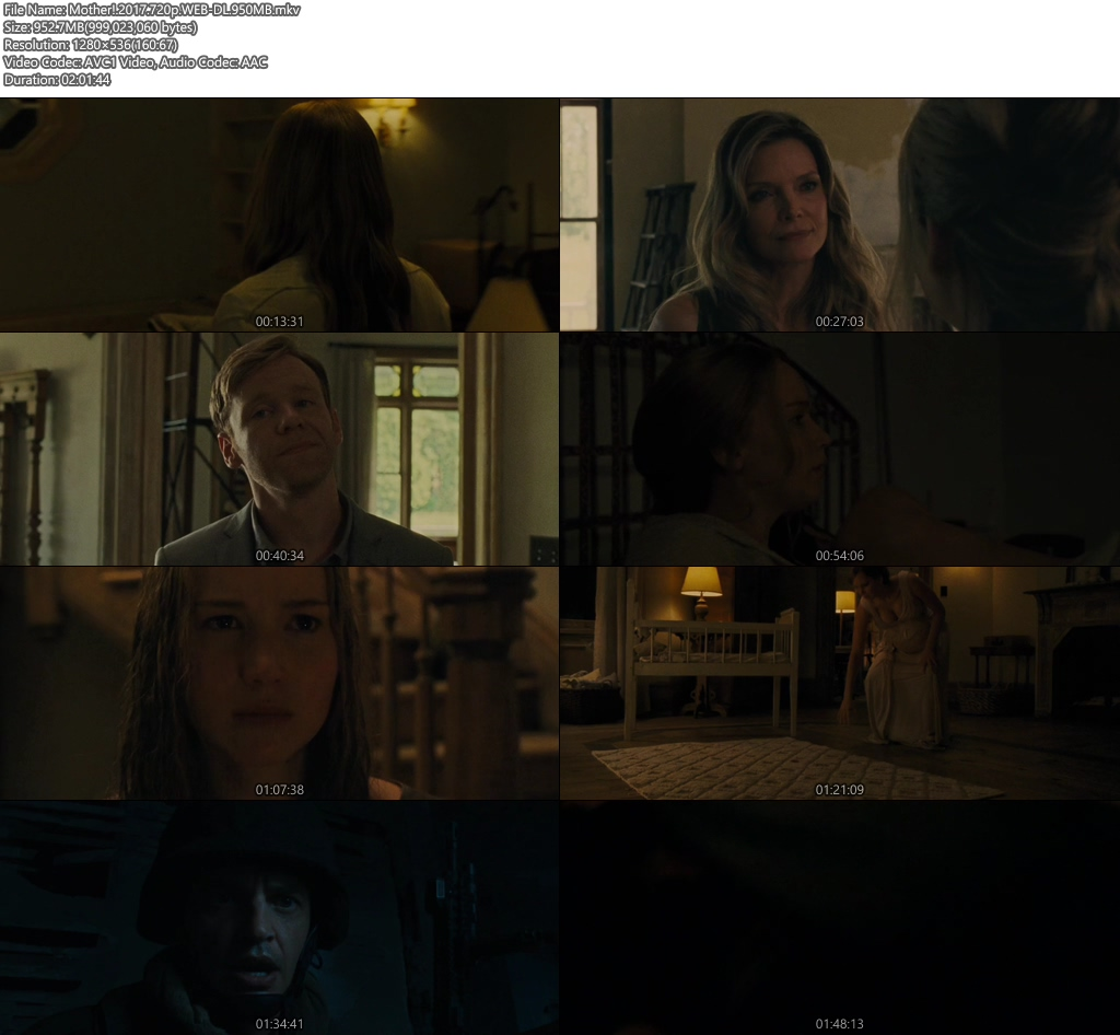 Mother! 2017 720p WEB-DL 950MB Screenshot