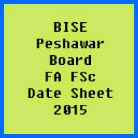 Peshawar Board FA FSc Date Sheet 2017, Part 1 and Part 2